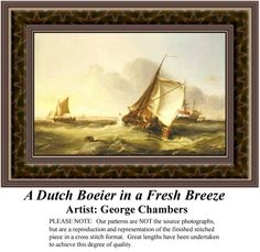 A Dutch Boeier in a French Breeze, Fine Art Counted Cross Stitch Pattern also available in Kit and Digital Download #pinterestcrossstitchpattern #pinterestgifts #fineartcrossstitchpatterns