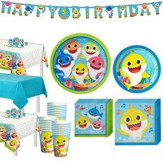 Second Birthday Boys, Baby Boy 1st Birthday, Boy Birthday Parties, Birthday Ideas, Birthday Cake, Shark Party Supplies, Halloween Party Supplies, Shark Party Decorations, Birthday Decorations
