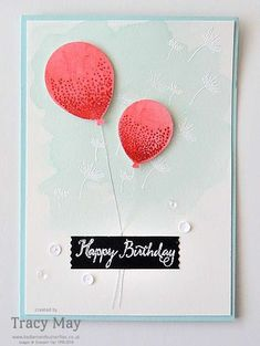 Balloon Celebration from Stampin' Up! UK Demonstrator Tracy May #GDP023