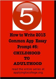 Common app personal essay