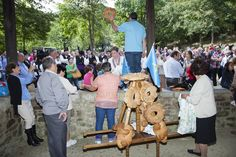 Puya del Ramu en Nuestra Señora de Miravalles, 8 de septiembre, en Soto, concejo de Aller.