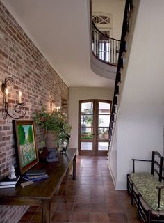 Love brick walls!! Want to a faux brick finish on the Livingroom wall that is shared w/the kitchen.