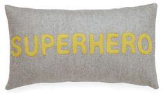 Cushion SuperHero - grey and yellow from Muusa