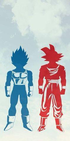 Dragon Ball Goku y Vegeta - Visit now for 3D Dragon Ball Z compression shirts now on sale! #dragonball #dbz #dragonballsuper