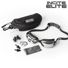 Swimming Goggles with Protective Case, Nose Clip and Ear Plugs