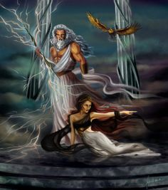 Zeus and Hera by dewmanna on deviantART. Tags. zeus, jupiter, hera, juno,