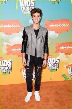 Bethany Mota & Cameron Dallas Hit Up Kids Choice Awards 2016 Orange Carpet
