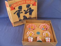 Ohio Art Children's Tea Set in Original Box from grannyts on Ruby Lane