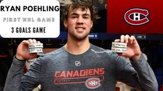 Ryan Poehling Hat trick First NHL game Nhl Games, Hockey, Goals, Mens Tops, Canadian Horse, Field Hockey, Ice Hockey