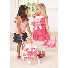 You and Me Lil Tots 4-in-1 Accessory Combo Doll Stroller