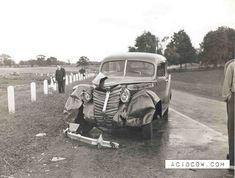 Classic car crash
