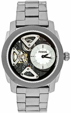 Fossil ME1120 Machine Twist Stainless Steel Watch Fossil. $130.75. Band color: black. Brand:Fossil. Condition:brand new with tags. Model: ME1120. Dial color: silver. Save 29% Off!