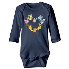 f99349c315b Kamici Baby Inflant Eevee Family Heart Long Sleeve Climb Clothes Romper  Navy 24 Months