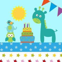 Blaue Einladung Zur Tierparty Einladungskarten Kindergeburtstag Geburtstag Lustige Tiere