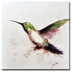 Hummingbird Flight Canvas Print Wall Art - Overstock Shopping - Top Rated Antique Revival Canvas