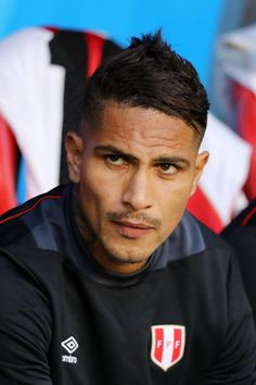 Paolo Guerrero of Peru looks on from the bench prior to the 2018 FIFA World Cup Russia group C match between Peru and Denmark at Mordovia Arena on June 2018 in Saransk, Russia. Peru Football, Football Is Life, Sc Internacional, Peruvian People, Fifa World Cup, Gym Time, Russia, That Look, Soccer