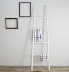 Distressed Wooden Towel Ladder