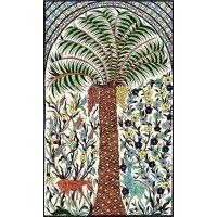 Palm Tree Mural Ancient Near East, Tile Murals, Decorative Tile, Tile Design, Ceramic Art, Cactus Plants, Palm Trees, Tiles, Backyard