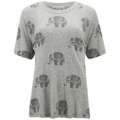Wildfox Women's Perfect Roaming Elephant T-Shirt - Vintage Lace
