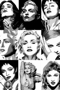 Madonna Now, Madonna Photos, Madonna Tattoo, Madona, Madonna Albums, Music Artwork, Pop Music, Pin Up, Caricature