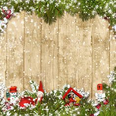 Christmas Background With A Border Of Fir Branches And Decoratio. Stock Photo, Picture And Royalty Free Image. Christmas Picture Background, Cute Christmas Backgrounds, Christmas Wallpaper Free, Party Background, Christmas Frames, Christmas Pictures, Winter Christmas, Branch Decor, Banner Printing