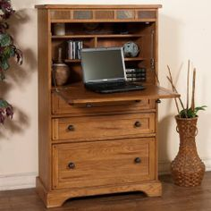 Shop For Sunny Designs Sedona Laptop Armoire, And Other Home Office Desks  At Eastern Furniture In Santa Clara, CA.