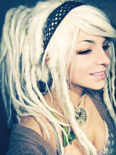 sekigan:  Dread accessories, bangs, dread-do | Face | Pinterest