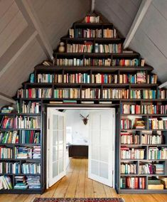 I love Books!!  I would LOVE to have a complete wall of books from floor to ceiling with one of those sliding ladders!!