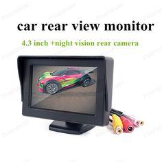 hot!! 480x240 resolution 4.3 inch car rear view system car monitor night vision car rear camera + wireless Transmitter