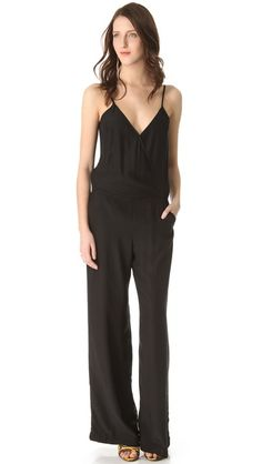 Parker Long Jumpsuit wear with flat strappy sandals (natural leather for day, gold shiny ones for evening)