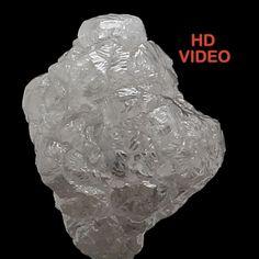 1.14 Ct Natural Loose Diamond Rough Shape White Grey Color 6.40 MM N3588 #NarshihaGemAndJewels