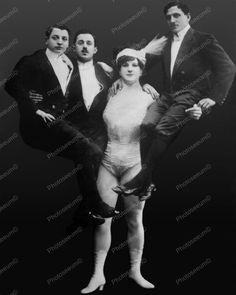Katie Hercules Woman lifts Three Men Reprint Of Old Photo – Photoseeum