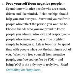 Free yourself from negative people...