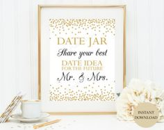 Printable Date Jar Sign Date Jar Date Night by ShopTheFirstLook