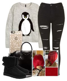 """Xmas Eve "" by trillest-queen ❤ liked on Polyvore featuring H&M, Topshop, Casetify, Givenchy and UGG Australia"