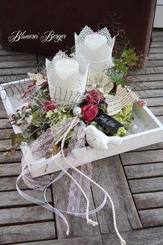 """Deko-Objekte - :::: Tischdeko """" Shabbyvögel """" :::: - ein Designerstück von BlumereiBerger bei DaWanda"""