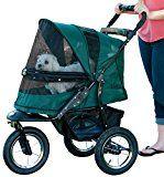 Pet Gear No-Zip Jogger Pet Stroller Zipperless Entry Forest Green