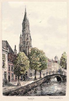 Delft, Oude gracht, Doedijns