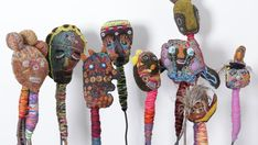 SOFT sculpture self-portraits made from dyed blankets, twigs, wadding and embroidery thread by women at the Yarrenyty Arltere art centre in Alice Springs will be among highlights of this year's Tarnanthi festival.
