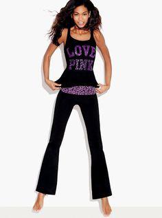 chanel yoga pants. victoria secret supermodel yoga pants - best ever! chanel