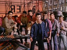 """The movie """"West Side Story"""", directed by Robert Wise and Jerome Robbins, screenplay by Ernest Lehman. Seen here from left, Richard Beymer . West Side Story Characters, West Side Story Movie, West Side Story 1961, 1961 Movies, Old Movies, William Shakespeare, Aesthetic Indie, Aesthetic Images, George Chakiris"""