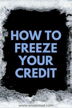 How to Freeze Your Credit | Best Personal Finance Advice | Credit Tips | #finance #financetips #financehacks #personalfinance #finance4u #money #moneytips #moneytricks #debtadvice #moneymatters #rockyourmoney