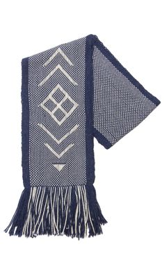 Navy Holiday Scarf