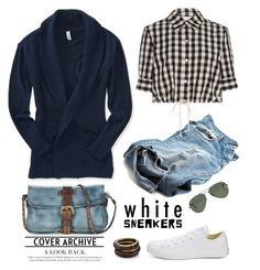 """""""Untitled #6734"""" by ana-angela ❤ liked on Polyvore featuring Converse, A.S. 98, Aéropostale, Solid & Striped, Ray-Ban, Nest and whitesneakers"""