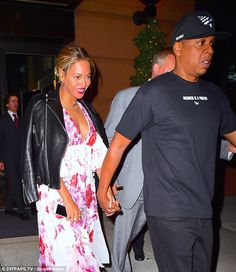 Date night! Beyonce and Jay Z enjoyed a three hour dinner at an Italian restaurant in New York on Tuesday