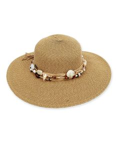 Take a look at this Sun 'N' Sand Toast Beaded Trim Hat today!