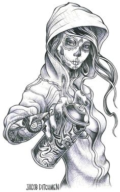 Badass right there. Lol   Chicano Art Tattoos | Designs & Interfaces / Tattoo Design ©2011-2013 ~ jditchmen