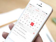 iOS 7 Calendar App Redesign | Designer Kyle Craven