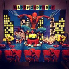 centros de mesa de spiderman gratis