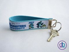 Monster's University Inspired Key Fob by DeBoopShop on Etsy, $7.00